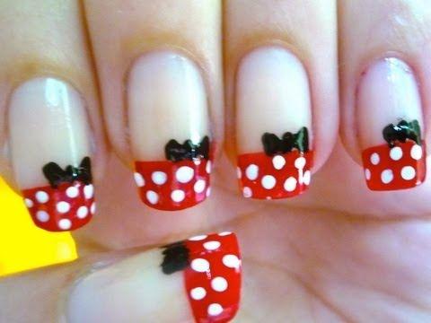 Unhas da Minnie Mouse - Nail Art - YouTube
