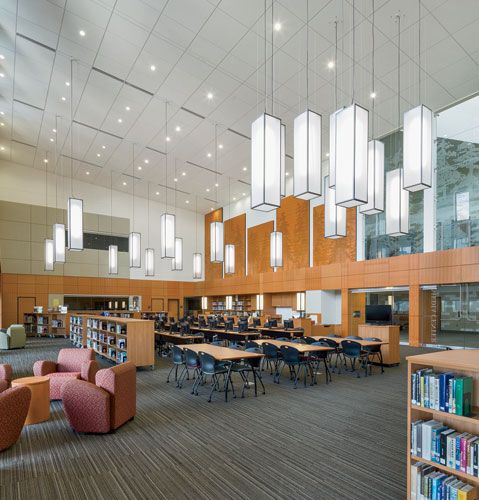 Sandy High School In Oregon By Dull Olson Weekes Architects Library DesignSchools