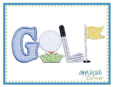 GOLF Applique Applique Design