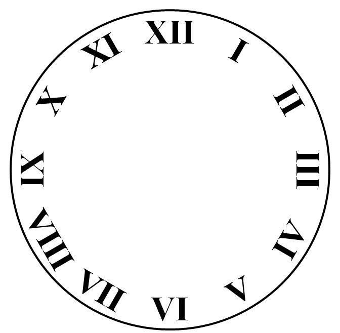 1000+ idei despre Roman Numeral 15 pe Pinterest - clock face template