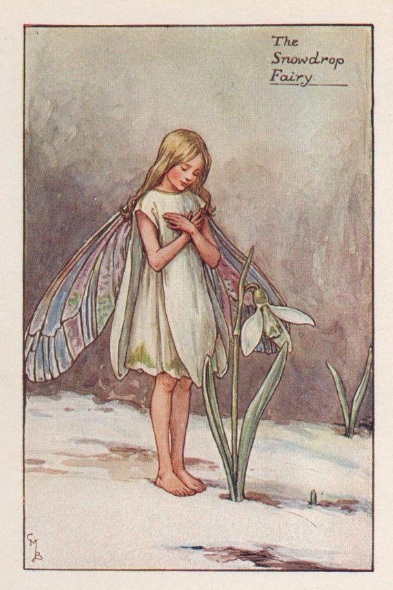 Dies Ist Ein Echtes Original Hubschen Vintage Druck Gerettet Aus Einem Folioblatt Buch Eines Der Flower Fairie In 2020 Flower Fairies Books Flower Fairies Fairy Art