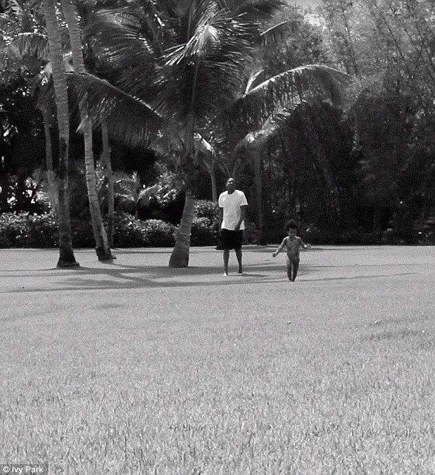 Her loves: In addition, the video featured her husband Jay Z and their four-year-old daughter, Blue Ivy