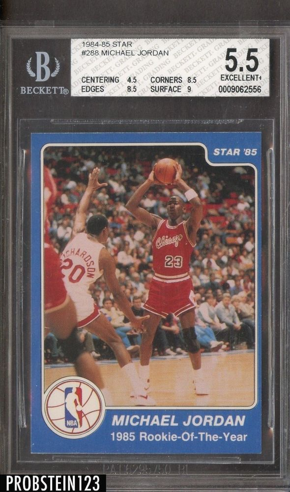 1984 Star 288 MIchael Jordan Chicago Bulls RC Rookie BGS 5 W 9 MichaelJordan SportsCards Collect