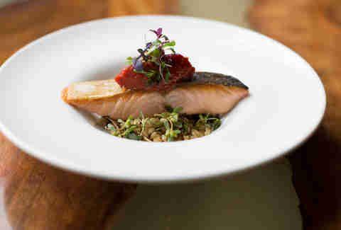 Salmon dish from Skool