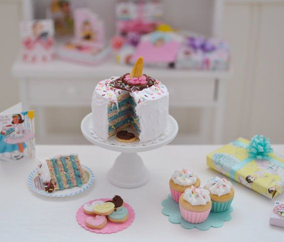 Sweet Petite Play Scale Birthday Cake Set by SweetPetiteShoppe