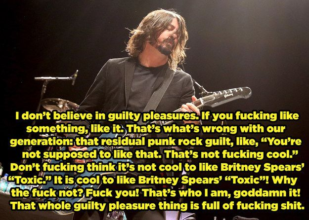 "That time he nailed exactly why the idea of ""guilty pleasures"" is totally ridiculous. 