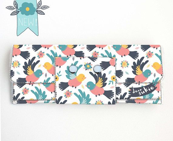 Check out this item in my Etsy shop https://www.etsy.com/ca/listing/578233566/vinyl-long-wallet-spring-birds-bird