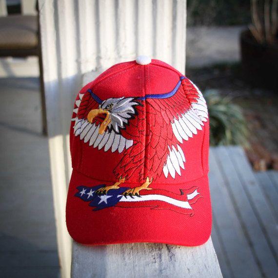 patriotic mlb baseball hats usa caps red eagle flag cap