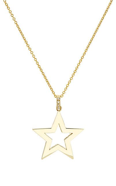 We Adore: The Open Star Pendant Necklace from Jennifer Meyer at Barneys New York