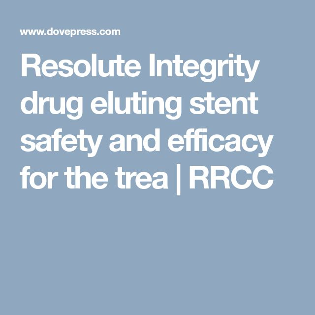 Resolute Integrity drug eluting stent safety and efficacy for the trea | RRCC
