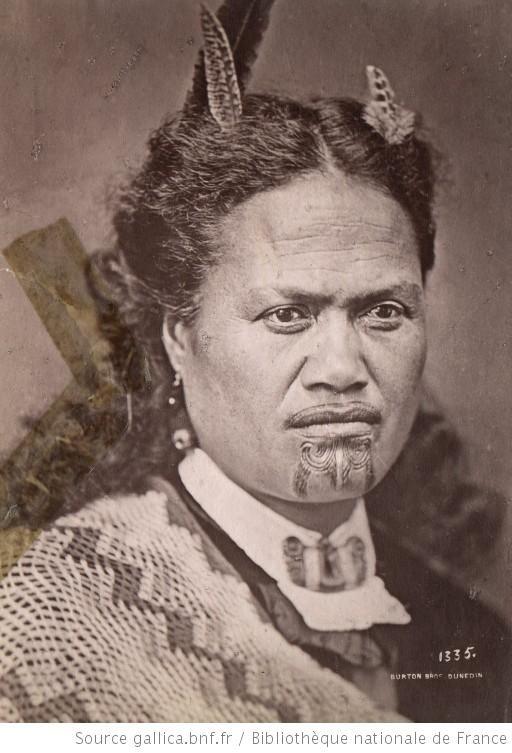 Femme maori, 1868-1898