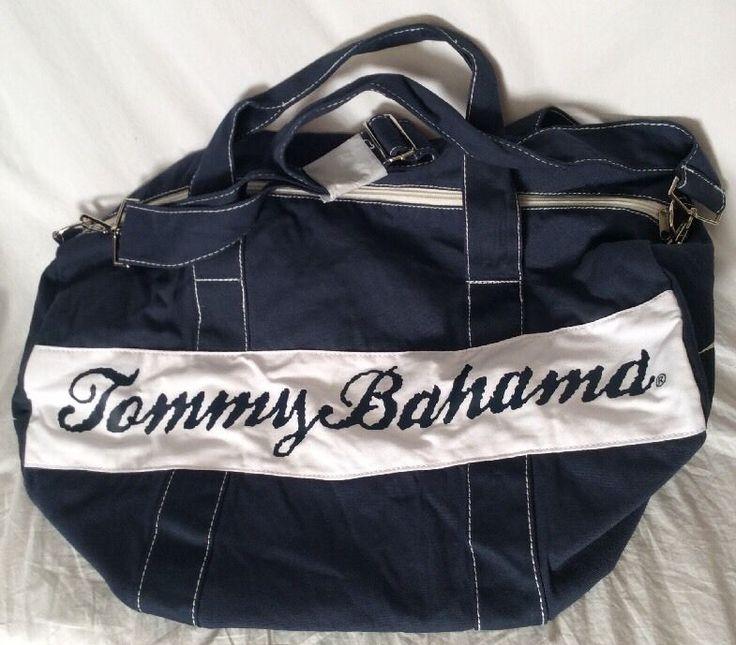 New #TommyBahama #Marlin Canvas #GymBag Barrel #Tote Navy #Lupus Donation #allianceforlupusresearch #ebay #weselldeadpeoplesstuffhq