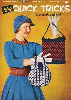 New Quick Tricks; gifts, home decor, bazaar & fashion Vintage Crochet Knitting Patterns Book for download