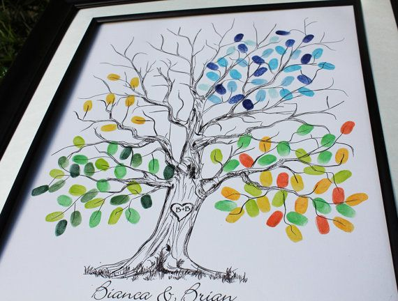 Original Guestbook Wedding Tree Guest book Wedding by fancyprints, $35.00