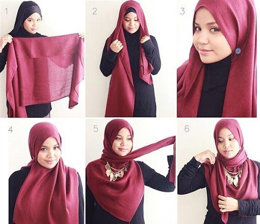 Tutorial Hijab Segi Empat Terbaru Dan Terkini