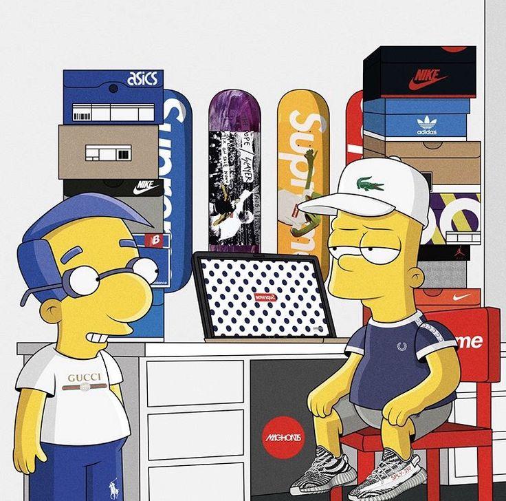 Supreme The Simpsons: Pin By Dinga Mpiti On Simpson