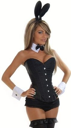 costumes for sale corsets playboy bunny corset set miss kittys costumes - Halloween Costumes Playboy