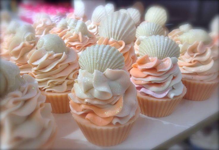 Pretty cupcake soaps