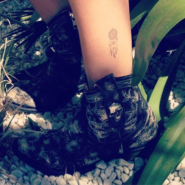 38 Small Dreamcatcher Tattoo Placement Ideas... Love the idea of it as an ankle tattoo