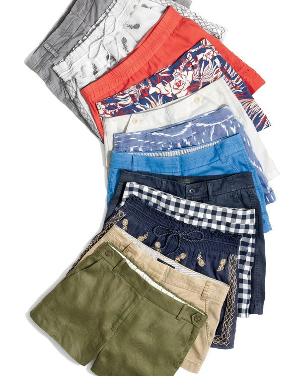 J.Crew women's shorts by the dozen. Eyelet, retro floral, an authentic ikat woven in India, classic chino...your summer survival guide starts here.
