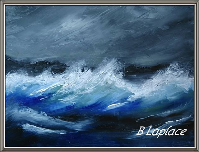 Tempête de nuit Huile sur bois au couteau #painting #paint #huile #peinturealhuile #peinture # ...