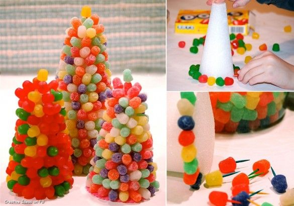 Christmas creative sweets and deserts ideas – Gumdrop tree