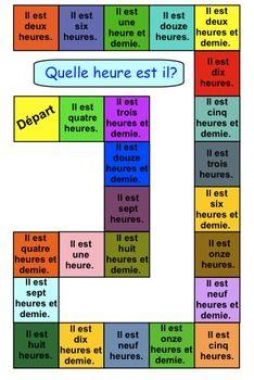THREE TELLING TIME GAMES FOR GRADE 1 (FRENCH) - TeachersPayTeachers.com