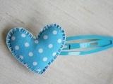 Heart hair clip...