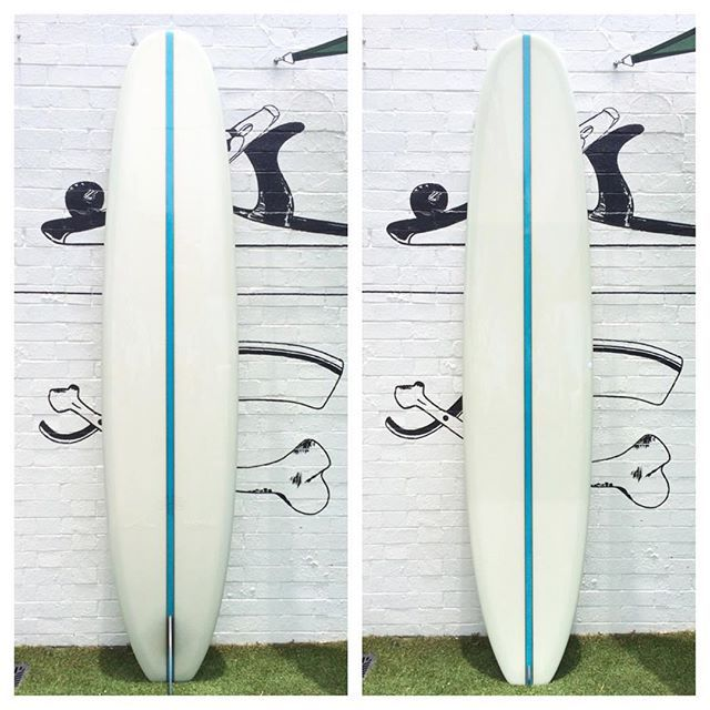 This is the best condition second hand board we've ever hand through, 9'4 modified old faithful with glass on @alkalifins rainbow fin