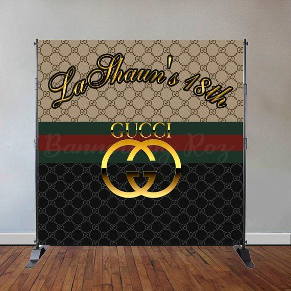 gucci inspired theme party backdrop step repeat backdrop for