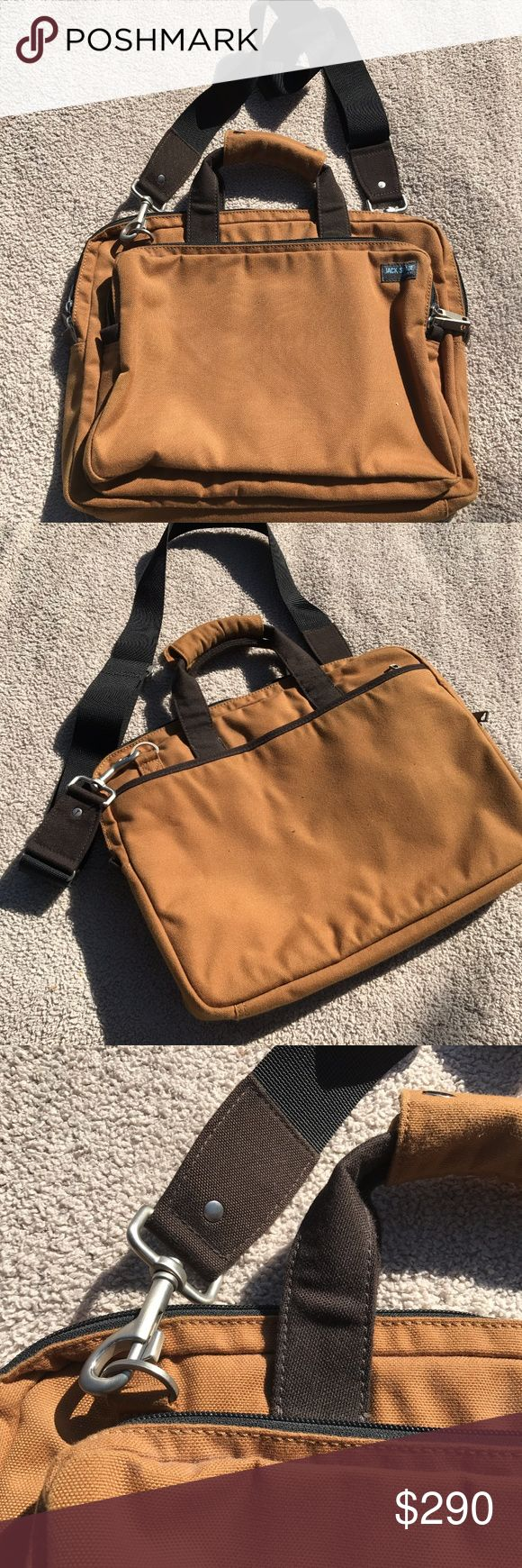 Jack Spade Canvas Briefcase Laptop Bag Gently used Excellent Condition  Multiple compartments and key carabiner to store all you need Jack Spade Bags Briefcases