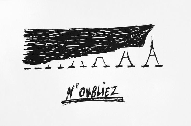 Screen print made after Paris attacks.