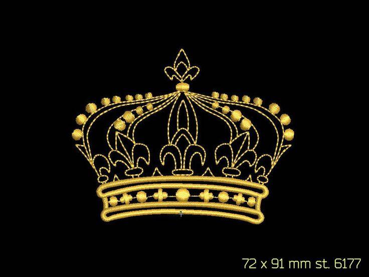 корона дизайн машинной вышивки
