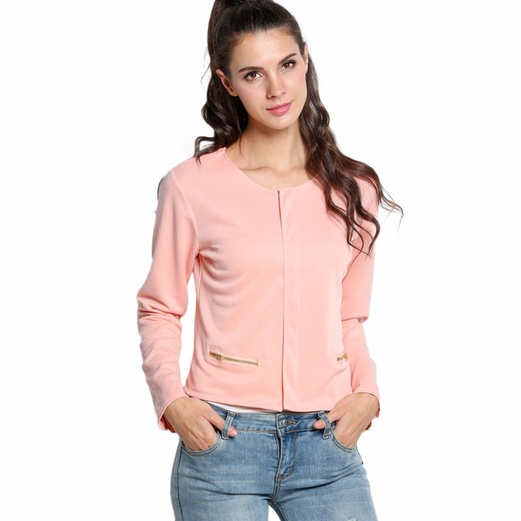 >> Click to Buy << Spring Autumn Long Sleeve Slim Women Basic Coat Pink Jacket Female Outerwear Lady Office Suit Bolero Manteau Femme Clothing #Affiliate