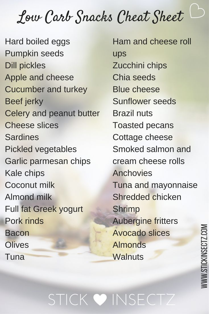 Get this printable Low Carb Snack Cheat Sheet when you sign up to the Stick Insectz Hive. Click through to my website for details.