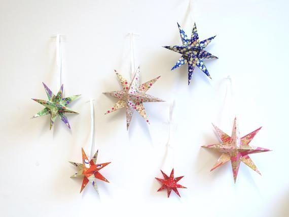 Customized Yellow Folding Paper Origami Star Light Lantern For ... | 427x570