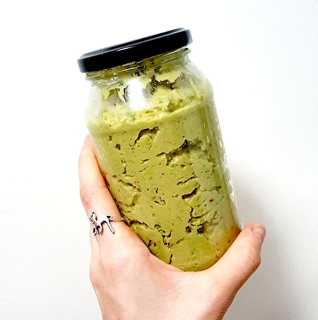 Green Pea Hummus made with Mayver's Tahini