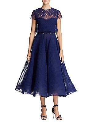5e071b9058e Marchesa Notte Floral Lace Fit-and-Flare Dress  cocktaildresseslordandtaylor