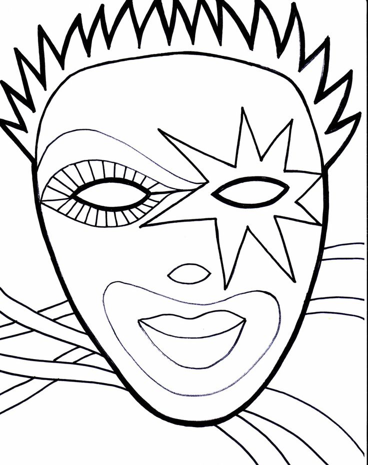mardi gras mask printable coloring pages - mardi gras printable coloring pages