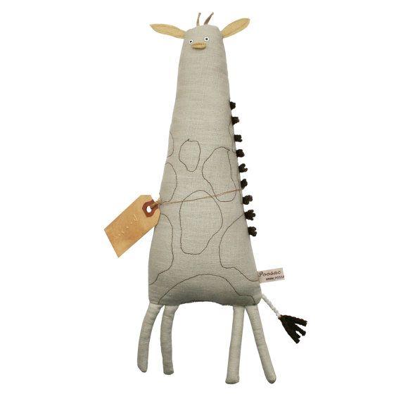Cyber Monday SALE, Stuffed Giraffe, Christmas Toy, Toy Giraffe, Giraffe Softie, Plush Giraffe, Jungle, Art Doll, Poosac, Brow, Children