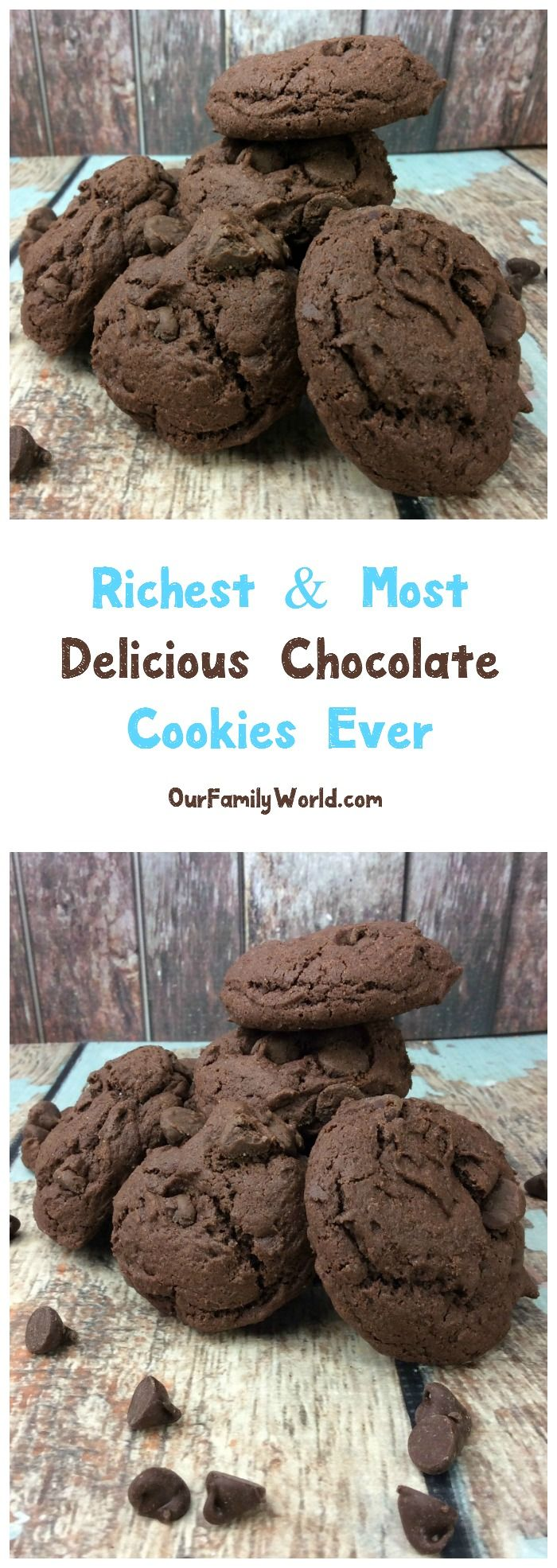Get ready for the richest, most delicious chocolate cookie recipe you've ever tasted! You won't believe how easy they are to make! Check it out!