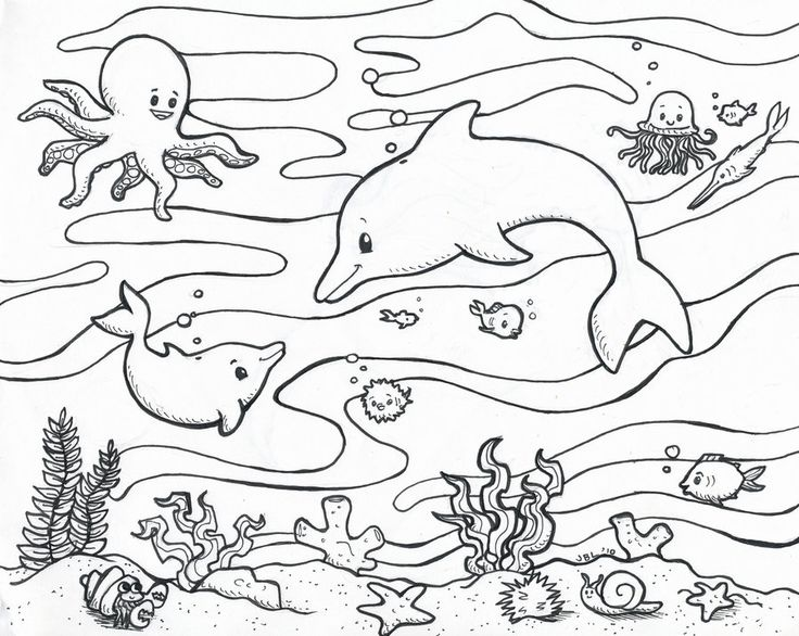 Download Ocean Coloring Pages