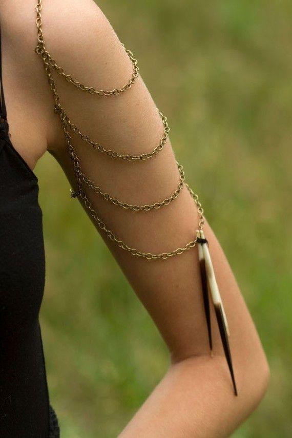 Southwest bohemian body jewelry  shoulder chain