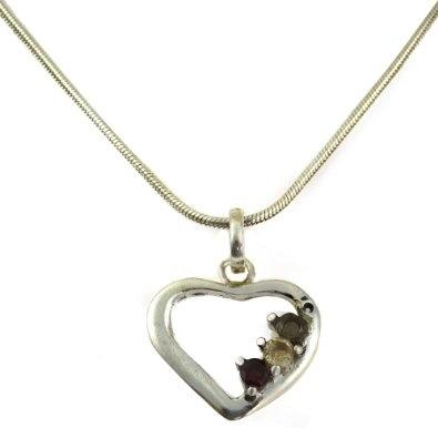Pendant with Chain Silver Multi Gemstones Designer Jewelry: Jewelry: Amazon.com