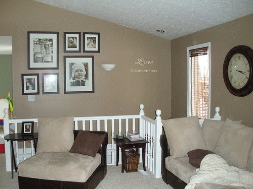 simple photo wall in family room