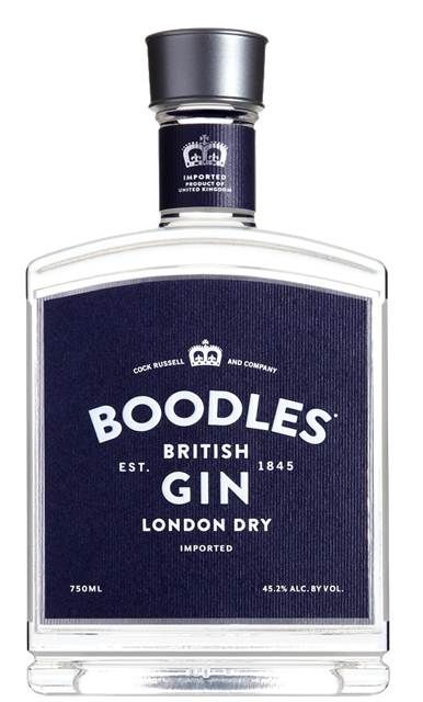 #Boodles #Gin: the new label.  Boodles was originally produced by the Cock Russell & Company Ltd. (a name still associated with the gin) and was established in 1845. It is thought to have been named after the Gentleman's Club in St. James's whose membership has included, amongst others, Sir Winston Churchill, Ian Fleming and David Niven.