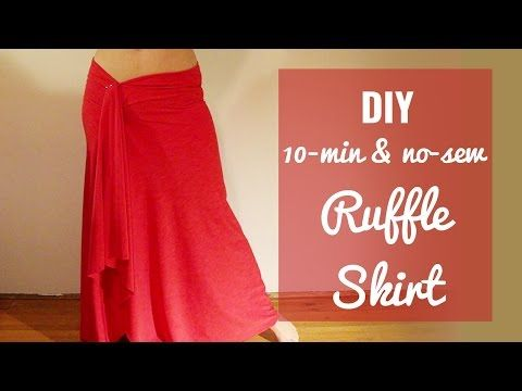 DIY 10-minute ruffle skirt (Sew or no-sew!) - SPARKLY BELLY