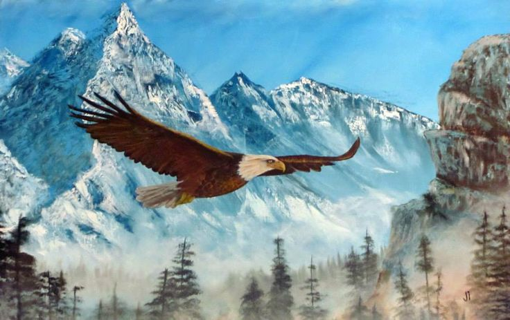 Eagle in the Midst (Oil on canvas)