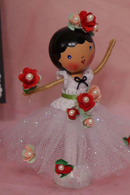 Degas Inspired Ballerina Clothespin Doll   Flickr - Photo Sharing!