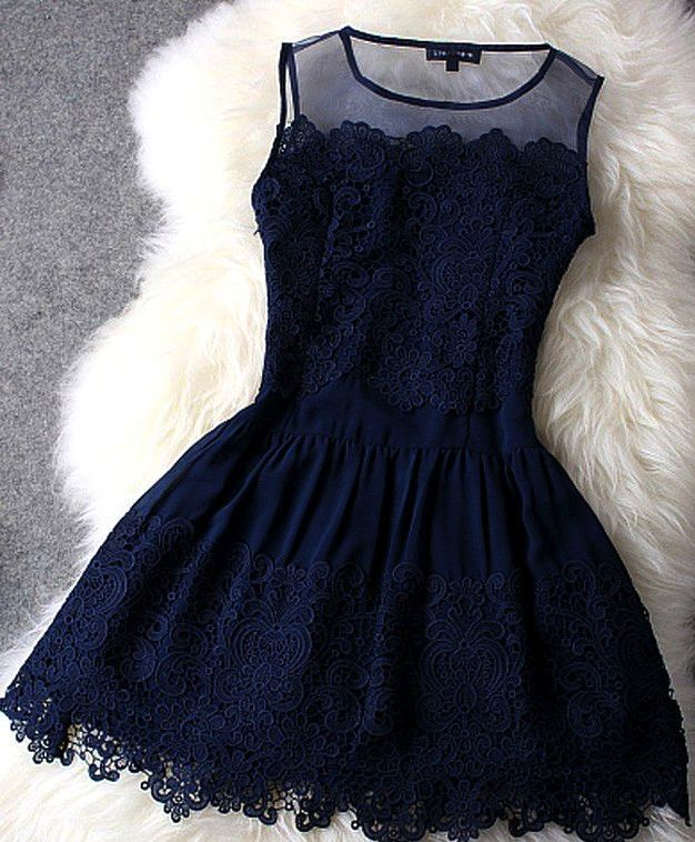 Blue lace dress...so beautiful